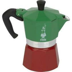 Bialetti 06659 Moka 3-Cup Express Tri Color Espresso Maker