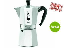 Bialetti 06800 6-Cup Stovetop Espresso Coffee Maker -Silver