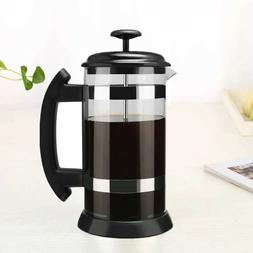 1000ml French Press Coffee Tea Maker Glass Stainless Steel L