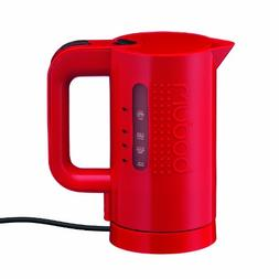 Bodum Bistro Electric Water Kettle, 17 Ounce, .5 Liter, Red