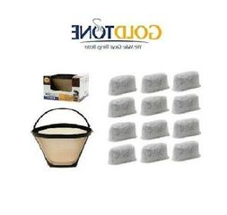 GoldTone Charcoal Water Filters & #4 Cone Filter for Cuisin