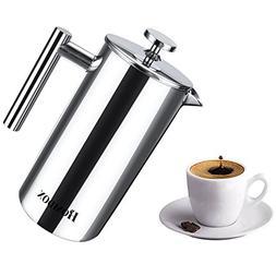 Homdox French Press, Coffee Tea Espresso Maker Heat Resistan