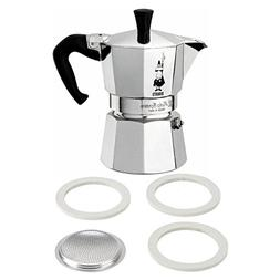 2 Item Bundle: Bialetti 3 Cup Moka Express with 3 Cup Filter