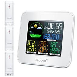 HOCOSY Digital in&Outdoor Hygrometer Thermometer, Color Wire