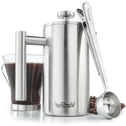 3 cup french press double walled stainless