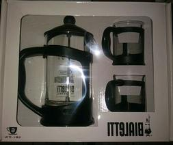 Bialetti 3-Piece Coffee Press Set 6 Cup Press GIFT SET Brand