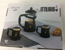 Bialetti 3-Piece Coffee Press Set 6 Cup Press GIFT SET New i
