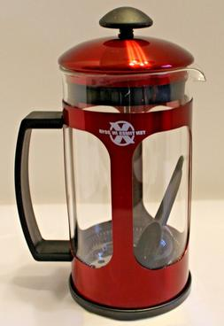 Wyndham House 34 Oz. French Press - Glass & Red Stainless St