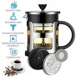 French Press Coffee Maker Tea Maker Cafetiere Stainless Stee