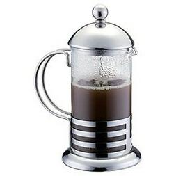 350ml / 3-cup Stainless Steel Glass Cafetiere French Filter