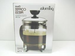 Primula 4 Cup Classic French American Ground Coffee Hot Pres