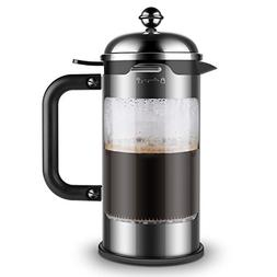 4 cups Coffee French Press, borosilicate glass stainless ste