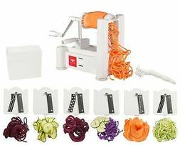 Paderno World Cuisine 6-Blade Vegetable Slicer / Spiralizer,