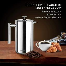 8 Cup French Press Coffee Maker Model : SFP-34DS - FREE SHIP
