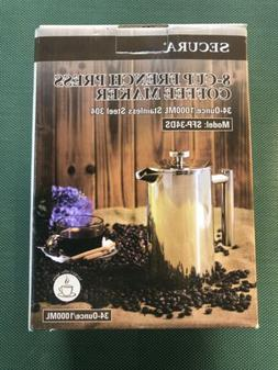 Secura 8-Cup French Press Coffee Maker SFP-34DS 34 Ounce Sta