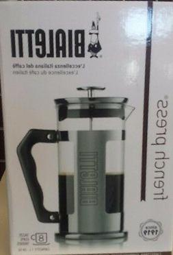Bialetti 8 Cup French Press Coffee Maker Stainless Steel 1L