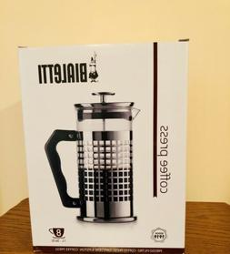 Bialetti 8-Cup Premium  French Coffee Press Glass Stainless