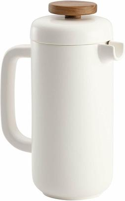 BonJour 8 Cup White Ceramic French Press