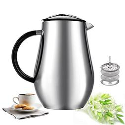 Sailnovo 8-Cup,1000ml/34oz Coffee Press Cafetiere Stainless
