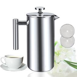 Sailnovo 8 Cups French Coffee Press Coffee Tea Maker Brewer