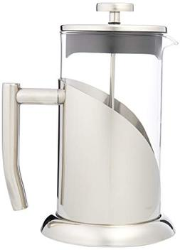 ANGELICA Stainless Steel & Glass French Press Coffee Maker &