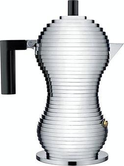 "Alessi MDL02/3 B""Pulcina"" Stove Top Espresso 3 Cup Coffee Ma"