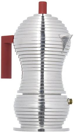 "Alessi MDL02/3 R""Pulcina"" Stove Top Espresso 3 Cup Coffee Ma"