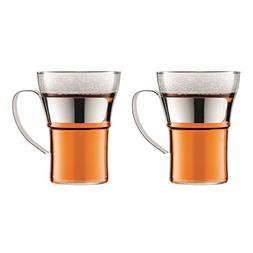 Bodum 4553-16 Assam 2 Piece Large Coffee Glass with Steel Ha