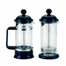BonJour Coffee Borosilicate Glass French Press & Milk Frothe