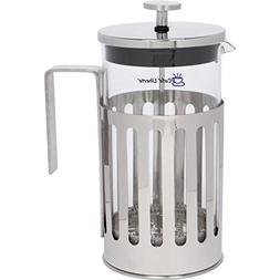 Cafe'Liberte' French Coffee/Tea Press - 8 Cup  - Polished St