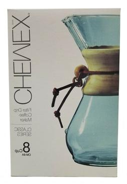 Chemex Classic Series, Pour-over Glass Coffeemaker, 8-Cup -