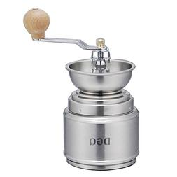 DGQ Brushed Stainless Steel Manual Coffee Grinder with Conic