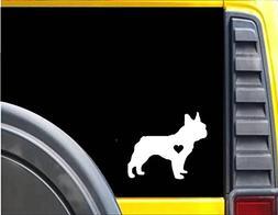 Frenchie Little Heart dog Decal 6 inch StickerJ586 French Bu