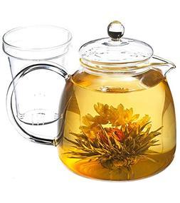 GROSCHE Munich 42 oz. Glass Teapot with Glass Tea Infuser, 1