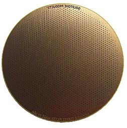 GoldTone Reusable Disk Coffee Filter for Aeropress Coffee an