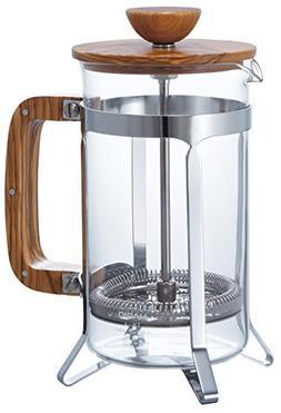 Hario CPSW-4-OV Olivewood Cafépress Coffee and Tea Press, 6