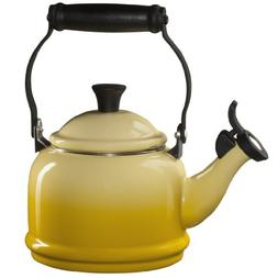 Le Creuset Enamel-on-Steel Demi 1-1/4-Quart Teakettle, Sun