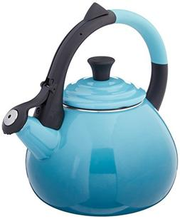 Le Creuset Enameled Steel 1.6 Quart Oolong Tea Kettle, Carib