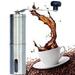 Manual Coffee Grinder Stainless Steel Ceramic Burr Adjustabl