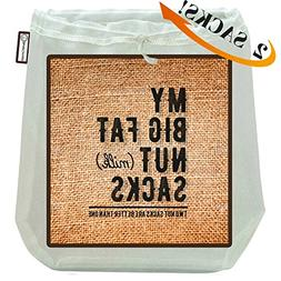 My Big Fat Nut  Sacks. 2-Pack  Commercial Quality Reusable A