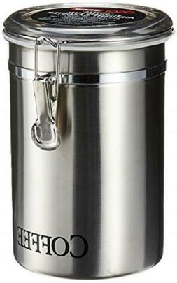"Oggi 62-Ounce Brushed Stainless Steel ""Coffee"" Airtight Cani"
