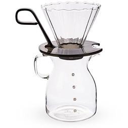 PIKE Borosilicate Glass Pour Over Coffee Dripper & Carafe Se