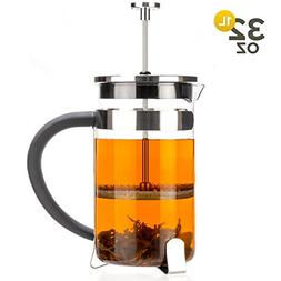 Tealyra - French Press 32-ounce - 4-5 cups - Great for Tea C