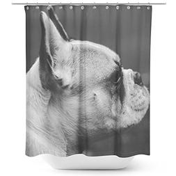Westlake Art - Bulldog French - Fabric Printed Shower Curtai