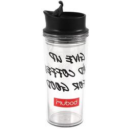 Bodum Acrylic Travel Mug with Bodum Logo, 16-Ounce