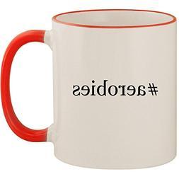 #aerobies - 11oz Ceramic Colored Handle & Rim Coffee Mug Cup