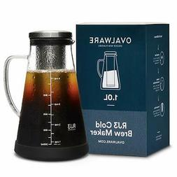1L Airtight Cold Brew Iced Coffee Maker Tea Infuser Spout Gl