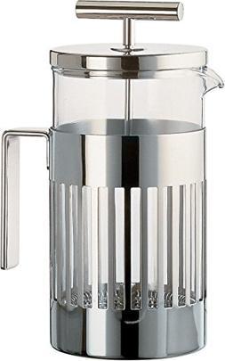 Alessi 9094/3 Press Filter Coffee Maker, Silver