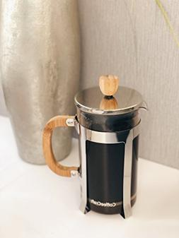 Coffee Craft Co. Bamboo & Glass French Press | Large 1L/34 o