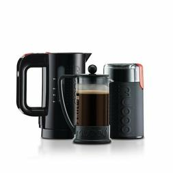 BODUM BARISTA SET 3PC - GRINDER, ELEC KETTLE, 3 CUP COFFEE M